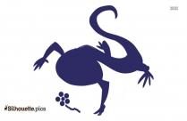 Lizard Silhouette Image Vector