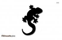 Salamander Silhouette Illustration