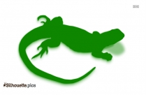 Black Lizard Silhouette Image
