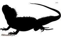 Chinese Crocodile Lizard Silhouette