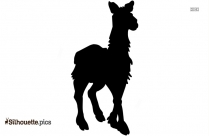 Black South American Camelid Silhouette Image
