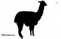 Llama Face Symbol Silhouette
