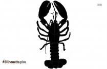 Giant Lobster Silhouette Free Vector Art