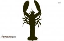 Lobster Species Silhouette Drawing