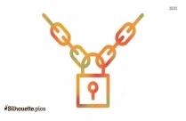 Lock Chain Silhouette Clip Art