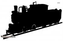Locomotive Train Clipart Silhouette
