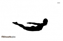 Yoga Pose Silhouette Drawing Image