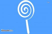 Lollipop Silhouette Drawing