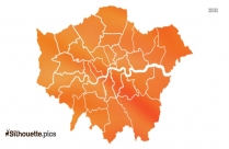 London Map Clipart Silhouette