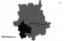 London Map Silhouette Drawing