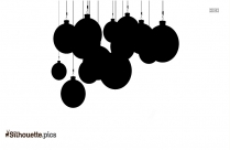 Long Hanging Christmas Ornament Silhouette