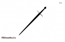 Prince With Sword Silhouette Illustration