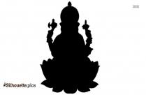 Black Lord Ganesh Silhouette Image