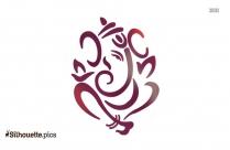 Lord Ganesha Symbol Silhouette Image