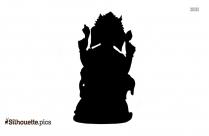 Ganesh Art Silhouette Icon