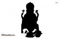 Lord Ganesh Silhouette, Hindu Deity Vector