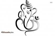 Ganesha Statue Silhouette Illustration