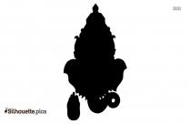 ganesha on lotus flower silhouette