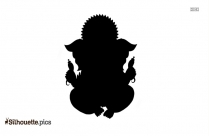 Hindu God Silhouette Black And White