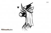 Lotus Dragon Silhouette Illustration