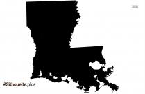 Louisiana Map Silhouette