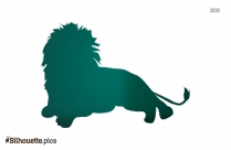 Lounging Lion Silhouette Image