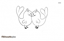 Love Birds Drawing Silhouette Vector And Graphics