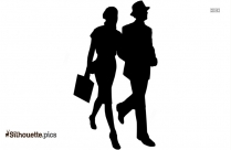 Love Couple Walking Silhouette