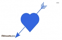 Love Heart Arrow Silhouette Clip Art