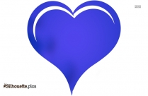 Love Heart Cartoon Silhouette Background