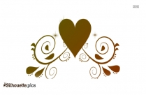 Wedding Hearts Silhouette Illustration