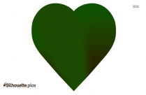 Green Heart Silhouette Free Vector Art