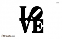 Word Love Silhouette