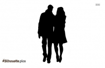 Lovers Holding Hands Silhouette Picture