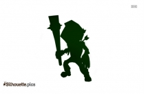 Low Poly Zombie Commoner Silhouette
