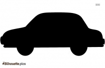 Man Driving Car Symbol Silhouette