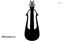 Black Fiddle Silhouette Image