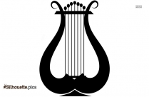 French Horn Silhouette Art, Clipart