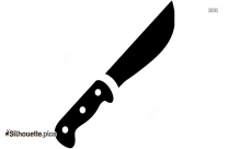 Knife Tool Silhouette Image
