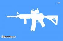 Ak-47 Gun Clip Art Silhouette Image