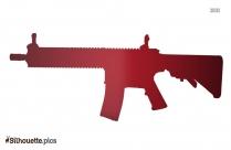 Cartoon Machine Gun Silhouette