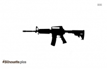 Machine Gun Silhouette Vector