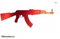 Assault Rifle Silhouette Art