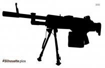 Machine Gun PNG Free Download Silhouette