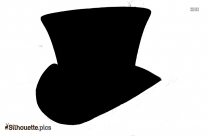 Mad Hatter Hat Silhouette Clipart Vector