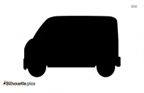 Mail Truck Clipart Silhouette