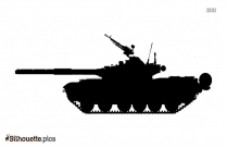 Military Tank Silhouette Picture Vector