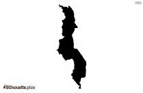 Madagascar Map Silhouette Art