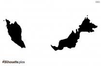 Malawi Map Silhouette