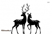 Male And Female Deer Silhouette Free Vector Art
